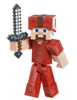 "Minecraft Earth 3.25"" Steve In Red Leather Figure"