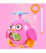 Baby Walker Toy Hand Push Plane Aircraft Outdoor Sports Toddler Pull Walks Rod Push Cart Drag Walking Educational Toy