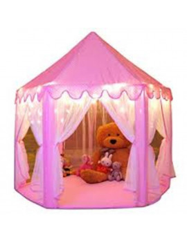 CuteKing Princess Castle Kids Play Tent Children Large Playhouse with Small Star Lights, Pink