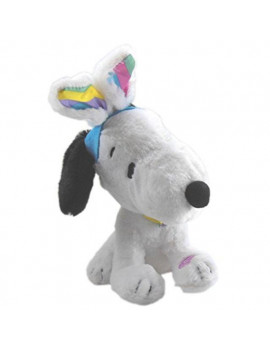 "peanuts animated snoopy 9.5"" plush plays 'linus and lucy' and dances"
