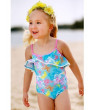 Sun Emporium Baby Girls Pink Butterfly Garden Cut-Out One Piece Swimsuit