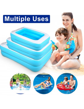 110/128/155cm Inflatable Swimming Pool, Bathing Tub Household Wear-Resistant Thick Pool for Families