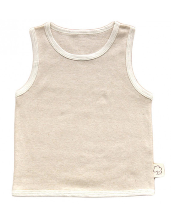 Lian LifeStyle Infant Baby's 1 PK Organic Cotton Undershirt Tank Beige Size(3Y-4Y)