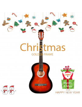"38"" Acoustic Guitar for Kids, Gift Classic Musical Instrument Professional Guitar Toys for Children, Brown Plywood 6 Strings 19 Frets Beginner Practice Guitar for Child Kids Boys Girls"