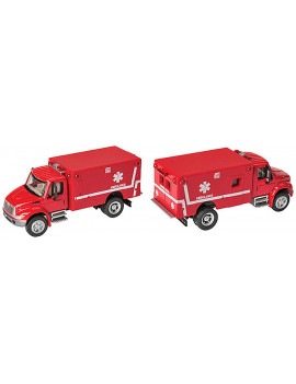 Walthers HO Scale Vehicle International(R) 4300 EMS Ambulance - Red