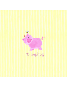 """Dumpling"" Piggy Wall Art"