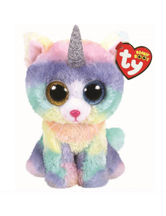 TY Beanie Boos - HEATHER the UniCat (Regular Size - 6 inch)