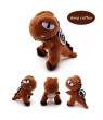 10CM Cute Cartoon Dinosaur Plush Toy Pendant Super Soft Stuffed Doll Mascot