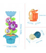 matoen Baby Bath Toy Bath Toy Set Flower Waterfall Water Station Kids' Best Gift