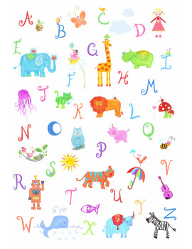 """Alphabet Adventure"" Wall Art"