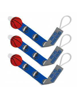 Baby Fanatics NBA Dallas Mavericks 3-Pack Pacifier Clips