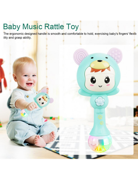 Ccdes Shaking Rattle Toys,Educational Baby Electronic Music Rattle Cute Cartoon Infant Shaking Hand Bells
