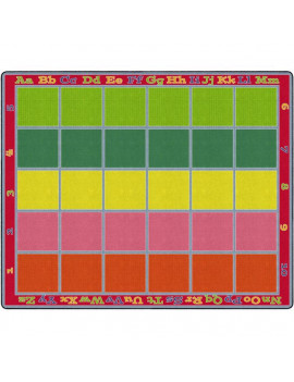 Flagship Carpets FE343-58A 10 ft. 9 in. x 13 ft. 2 in. Sitting Grid Classroom Rug, Bright - Rectangle