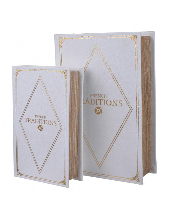 A & B Home Book Boxes - Set of 2