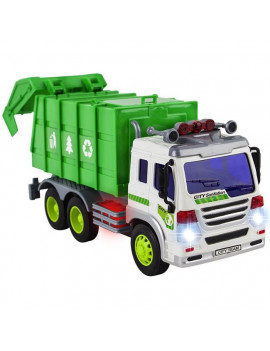 Azimport PS307S Friction Powered Garbage Truck Toy