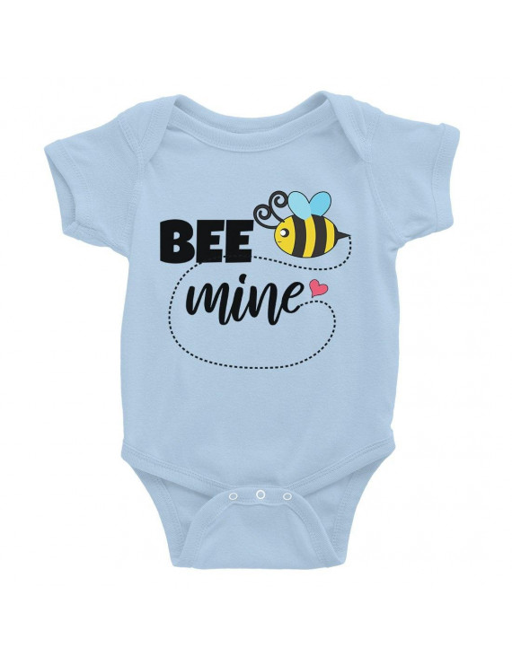 Bee Mine Cute Infant Bodysuit Baby Shower Gift Funny Baby Jumpsuit
