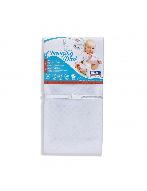 "LA Baby 30"" 4-Sided Waterproof Changing Pad"