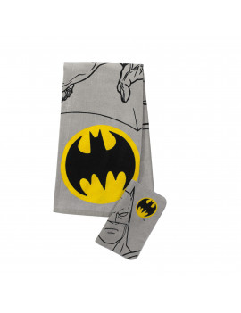 Batman 2-Piece Bath Towel and Wash Cloth Set, 100% Soft Terry Cotton