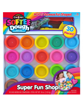 Cra-Z-Art Super Rainbow Softee Dough Color Pack Set 30-Ct (MultiColor)