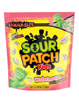 Sour Patch Kids Watermelon Candy, Original Flavor, 1 Family Size Bag (1.8 lb)