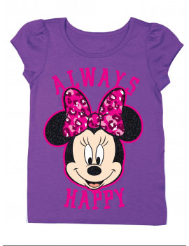 """Always Happy"" Short Sleeve Graphic Tshirt (Toddler Girls)"