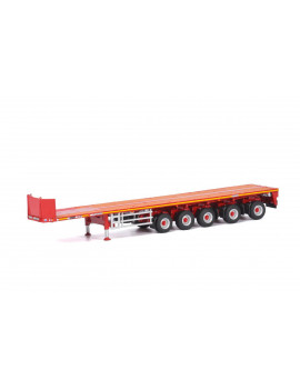 """Goldhofer"" 5 Axle Ballast Trailer Red ""WSI Premium Line"" 1/50 Diecast Model by WSI Models"