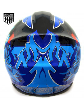 DOT Youth & Kids Helmet for Dirtbike ATV Motocross MX Offroad Motorcyle Street bike Flat Matte Black Helmet (Large, Black & Blue)
