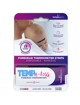 (2 pack) Temp-N-Toss Disposable Forehead Thermometer Strips