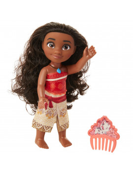 "Disney Princess Moana 6"" Petite Doll with Glittered Bodice includes comb"