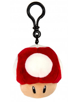 Nintendo Mario Kart Club Mocchi-Mocchi- Collectible Clip-On - Mushroom Stuffed Toy