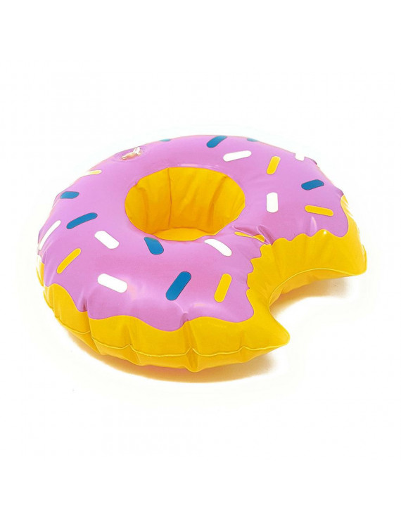 TureClos Inflatable Cup Holder Swimming Pool Shower Bathtub Beach Party Hot Tub Drinks Bottle Coaster, Purple Donut