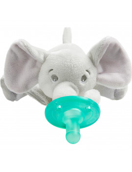 Philips Avent Soothie Snuggle pacifier, 0m+, Elephant, SCF347/03