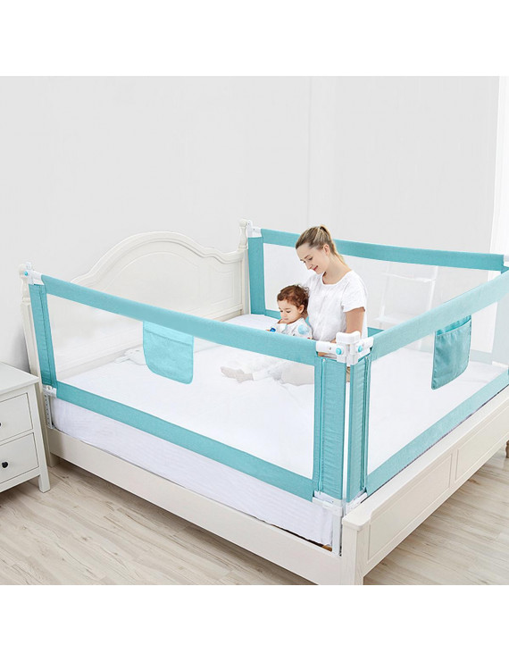 Bed Rails for Toddlers 47''60''70''80''87''(L) Height Adjustable Baby Bed Rail Kids Infant Bed Guard Rails Safety Barrier Bedguard Guard for Kids Twin, Double,Queen & King Mattress