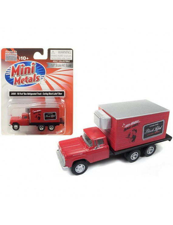 Classic Metal Works 30508 1960 Ford Box Reefer Refrigerated Truck Carling Black Label Beer Red 1-87 HO Scale Model