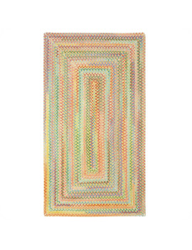 Capel Rugs - Baby's Breath Concentric Rectangle Braided Rugs