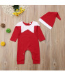 Christmas Elf Baby Boys Girls Romper Suit + Hat Costumes Clothes