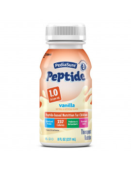 PediaSure Peptide 1.0 Cal, Therapeutic Nutrition Shake, Vanilla 8 oz, 24 Count