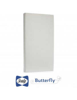 Sealy Butterfly, Premium Firm Crib Toddler Mattress in a Box, Breathable Knit Cover
