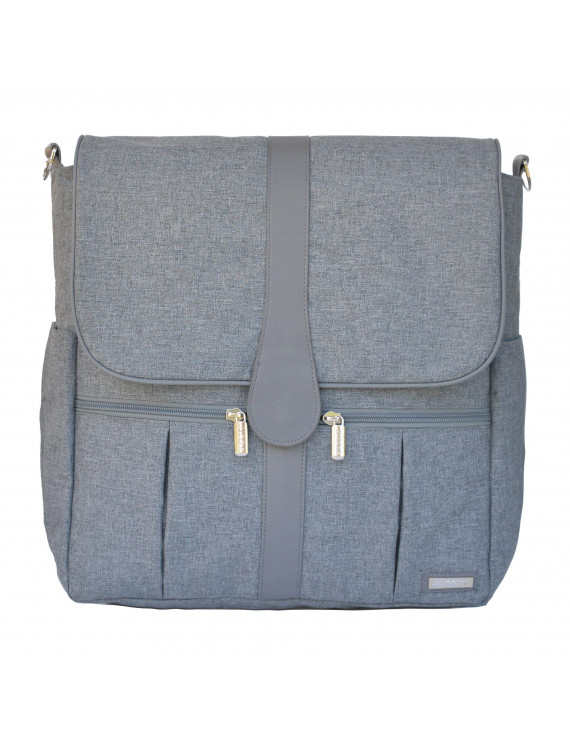 JJ Cole Backpack Diaper Bag Heather Grey