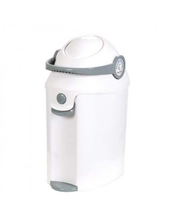 Baby Trend Deluxe Diaper Champ Pail, White & Gray