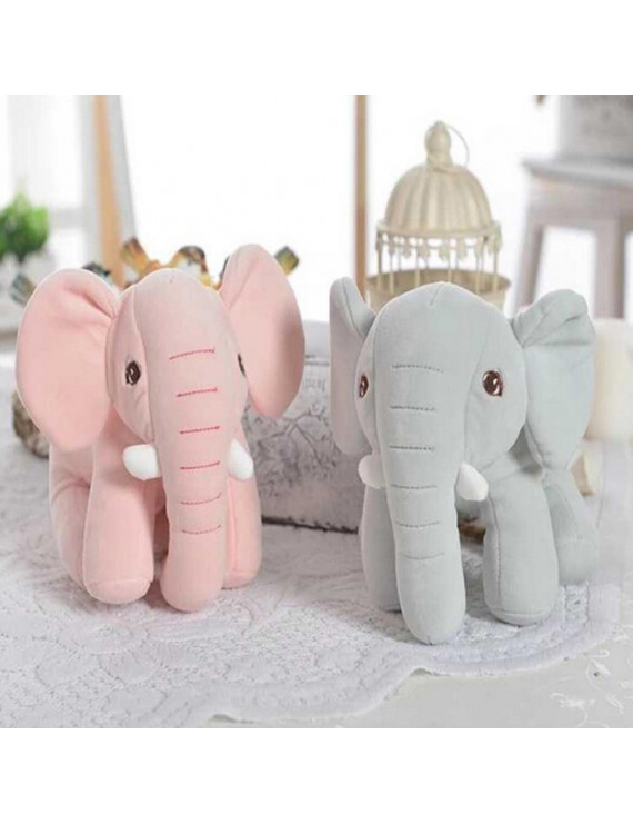 Bluelans Plush Cute Elephant Animal Stuffed Doll Children Huggable Toy Sofa Bed Decor