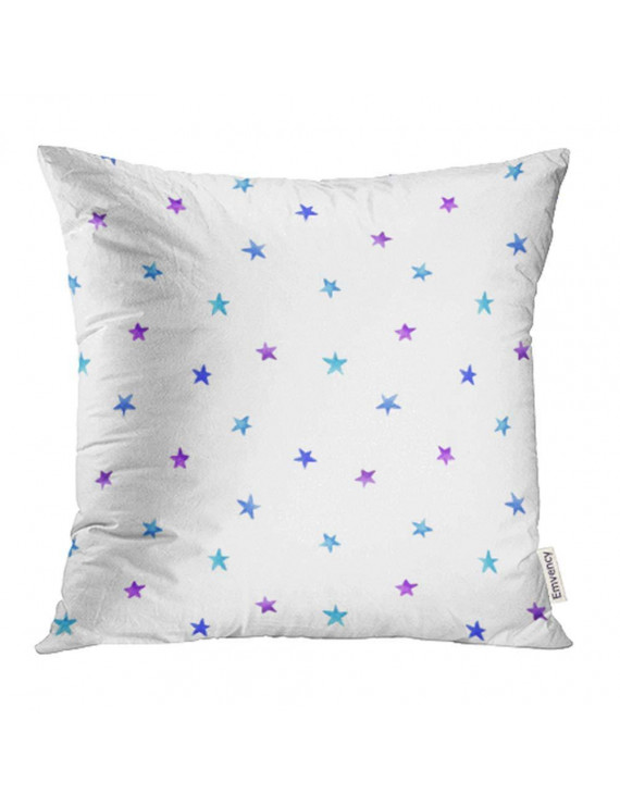 ARHOME Starry Sky Hand Ombre Blue Violet Watercolor Stars Magic Stellar Winter Pillowcase Cushion Cover 20x20 inch