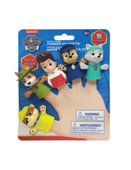 Nickelodeon Paw Patrol Bath Finger Puppets, Chase & Friends
