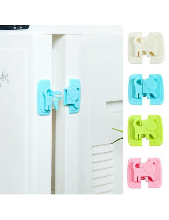 Plastic Safe Cartoon Door Protection Drawer Lock Children Cute Cabinet For Baby Safety Security Locks Lock