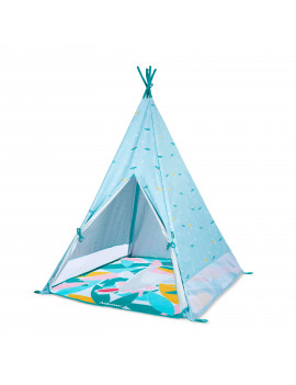 Babymoov Indoor & Outdoor Teepee Tent for Kids with Play Mat, Carrying Bag and Pegs Included