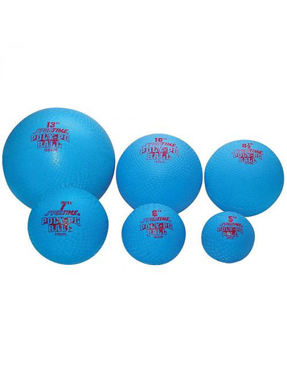 Sportime Poly-PG Ball, 8-1/2 Inches, Blue