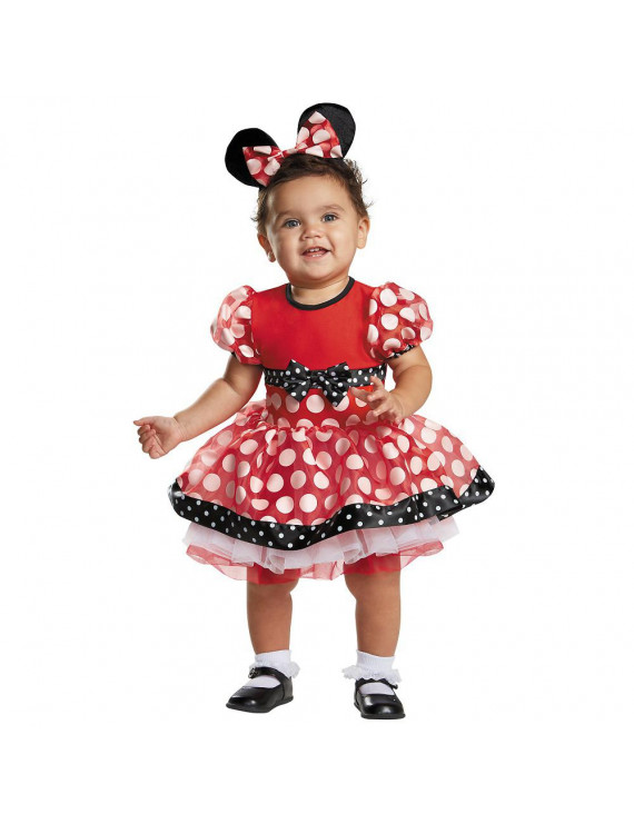 Prestige Red Minnie Mouse Baby Infant Costume - Baby 6-12