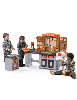 Step2 Pro Play Workshop & Utility Bench with 76 Piece Tool Set