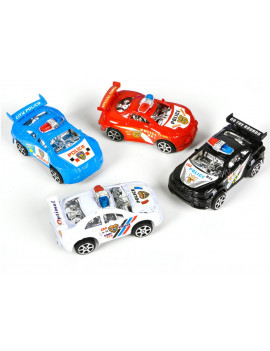 12 Friction Rev Em Up Toy Police Cars Costume Accessory