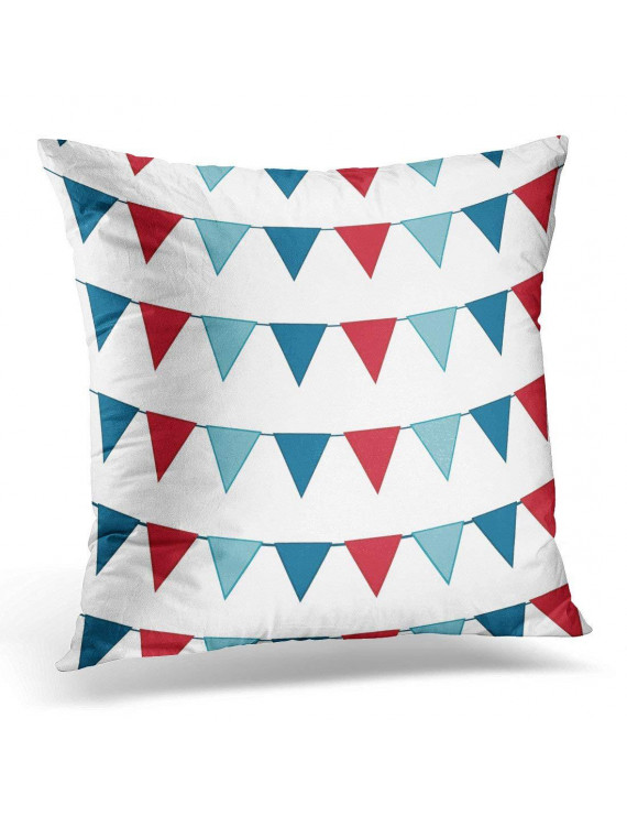 CMFUN Blue Cartoon Bunting Gray Child Pillow Case Pillow Cover 20x20 inch